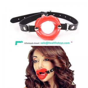 Oral sex device open mouth gag yoke for blow job