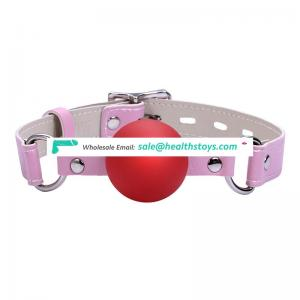 PU tongue ball gag head harness with metal lock