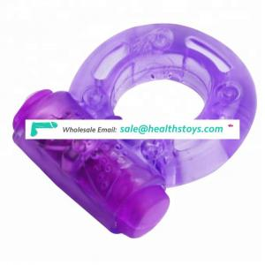 Pink cheapest delay time Massage Vibrator cock ring for man penis