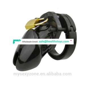 Plastic Male Chastity Device Cock Cage Black color Penis Cage