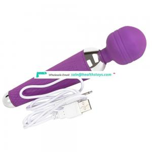 Popular vibrator machine 10 frequency Rechargeable Magic wand av stick sex toy for women