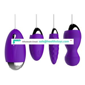 Purple color wire control silicone kegel exercise ben wa ball vagina vibrating massage balls