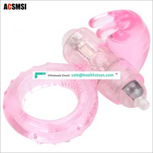 Rabbit vibration ring for men and women vibration lock fine ring male equipment foreign trade explosion adult products