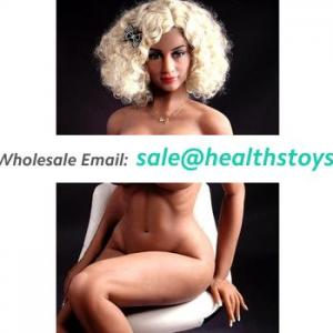 Realistic Love Toys Solid silicone 168cm adult girl muscle sex doll with big Breast for Men