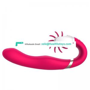 Rotation Tongue Lick Clitoris Vibrating Handheld vagina massager USB charge