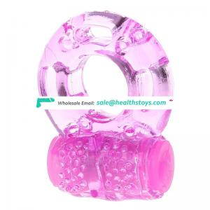 Rubber pink color condom cock sex delay toy ring for man