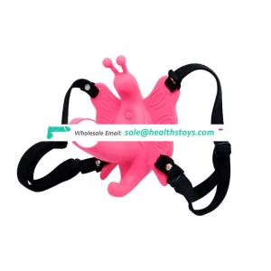 Sensual comfort Strap on dildo butterfly vibrator dildo harness for women