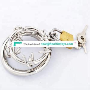 Sex Toys Stainless Steel Male Chastity Device Penis Rings Cock Cage Ring With locks