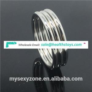 Sex toy adult stainless steel gay men jewelry delay love penis ring