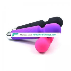 Silicone USB rechargeable 8 Speed adjustable 20 frequency vibration girl janpen av vibrator for women