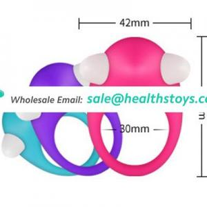 Silicone Vibrating Cock Ring Delay Ejaculation Penis Ring Adult Sex Toys for Men