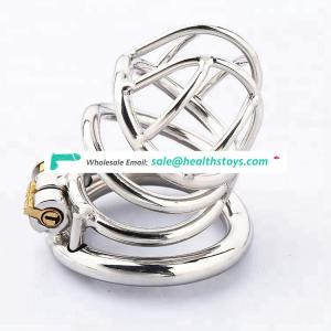 Silver Stainless Steel Male Chastity Cock Cage Male Bondage Restraint Sex Toys