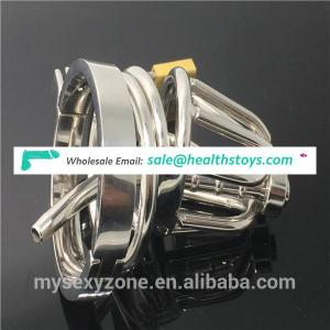 Small Male Chastity Device Urethra Cock Cage BDSM restraint Stainless Steel Penis cage