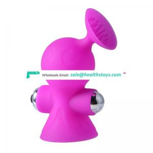Small easy travel carry horn shape breast sucking boobs battery power for breast