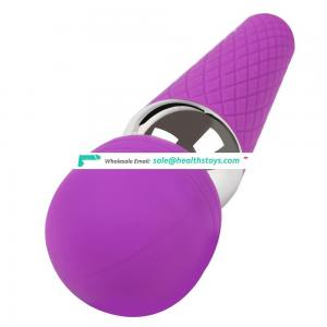 Soft silicone 10 frequency Rechargeable Magic wand janpen av vibrator for women