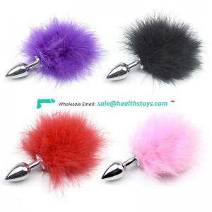 Special Shape Artificial Fox Tail with Metal Anal Plug
