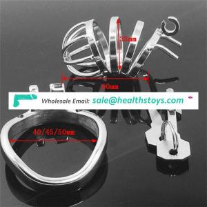 Stainless Steel Lockable Adult Sex Toys Sexy Gay Porn BDSM Male Adjustable Penis Rings Cock Cage