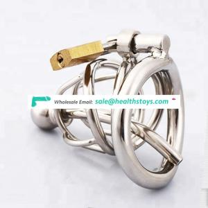 Stainless Steel Male Chastity Device Chastity Cage Cock cage with urethral catheter