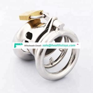 Stainless Steel Small Male Chastity device Adult Cock Cage BDSM Chastity penis plug C004