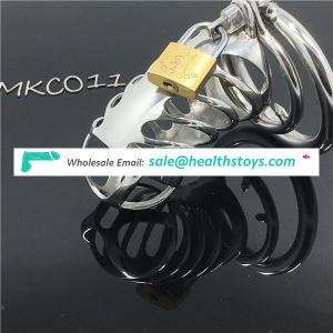 Stainless Steel Small Male Chastity device Adult Cock Cage BDSM Chastity penis plug C011
