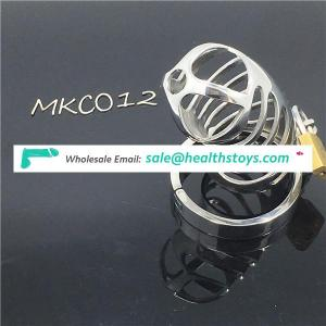 Stainless Steel Small Male Chastity device Adult Cock Cage BDSM Chastity penis plug C012