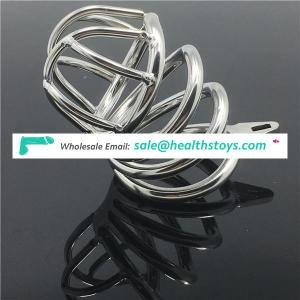 Stainless Steel Super Small Male Chastity device Adult Cock Cage With Curve Cock Ring BDSM Sex Toys Chastity belt