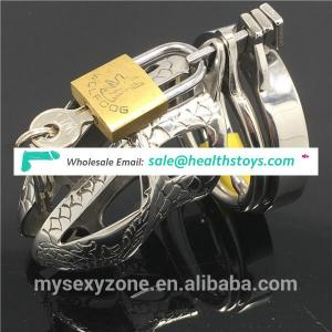 Stainless Steel cock cage Male Chastity Device sex toy BDSM penis ring