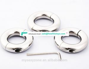 Stainless steel Ball Weight Penis cock testis Restraint device Adult sex products Ball Stretcher Delay Ejaculation Ring