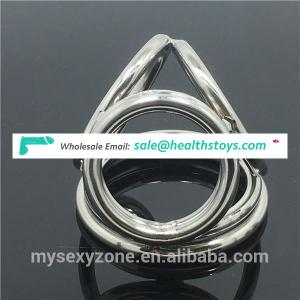 Stainless steel Male Chastity Device Penis Cock Ring Delay Ejaculation Male Sex Toys