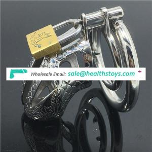 Stainless steel Male chastity lock Birdcage cock cage boy chastity cage for man