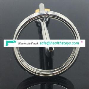 Stainless steel chastity device cock cage penis plug urethral dilators penis locking chastity belt sex products CBT Fetish