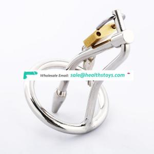 Stainless steel male chastity device penis plug catheter sound cock cage men chastity belt penis lock sex toys C045a