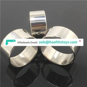 Stainless steel male penis ring chastity device bdsm sex delay love ring