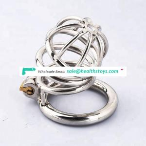 Stainless steel metal cock cage penis chastity devices for male 40mm 45mm 50mm ring size