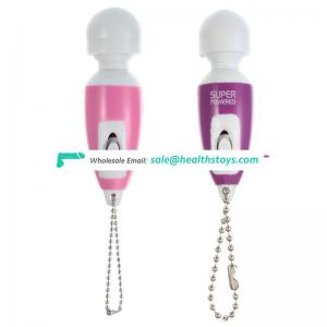 Strong vibration neck wand massager with hanging kit mini massager