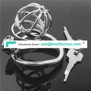 Super Small Male Chastity Device Adult Cock Cage With arc-shaped Cock Ring Sex Toys Stainless Steel Chastity Belt