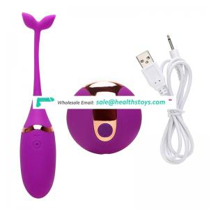 Swimmer shape USB rechargeable remote control ben wa kegel vibrator balls kit