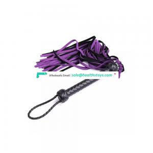 Teasing Whip Sexy Spanking Props Leather whip with Purple tail For Adults Couples