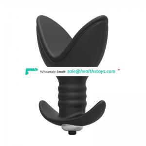 Thread two flaps enlarge anal retractor plug vibrating cone for couples