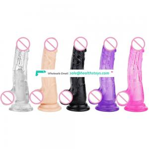 Top TPE ultra soft and elastic vibrator dildo with 10 vibrations and rotations