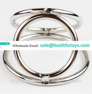 Triangle Cock Ring Stainless Steel Ball Stretcher Penis Ring Scrotum Erotic Toys for Men