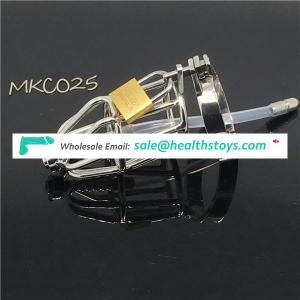 Unique Male Chastity Devices With Urethral Sound Catheter Adult Sex Toys For Men Cock Cage BDSM CBT Fetish C025