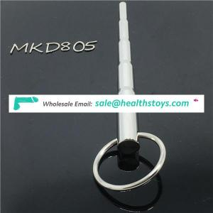 Urethral Sound Device with penis head ring steel bdsm chastity penis plug