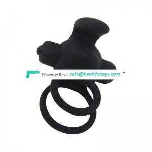 Vibrate Cock Penis Ring Vibrator Delay Ejaculation Sex Toy for Men