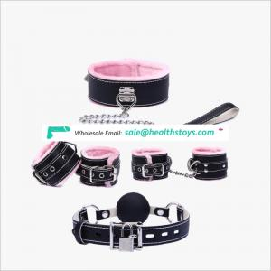 Warm sweet hairy fetish female sex bondage restraints sets