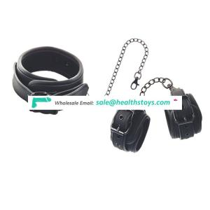 Wholesale  sm neck collar with pin buckle handcuffs  bdsm fetish body restraints bondage