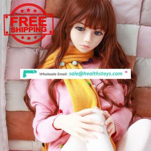 Wholesale 140CM Sexy Japanese Girl  Real Silicone Sex Doll For Male