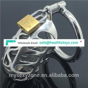 Wholesale Stainless Steel Male Chastity Device Cock Cage , Penis Cage Cock Sex Toys