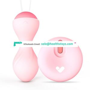 Wireless control kegel vibrator ben wa kegel balls for woman
