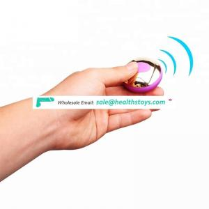 Wireless remote control Factory price vibrating love egg for women